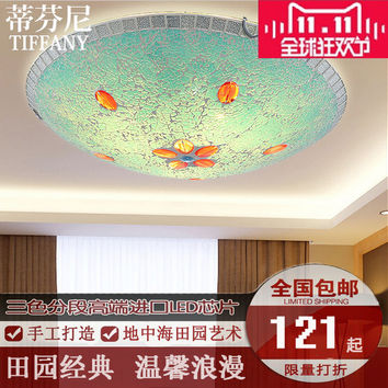Led Ceiling Lamps Mediterranean Pastoral Bedroom Lamp Tiffany Lamp Glass Lamp The Living Room Became The Aisle Yang