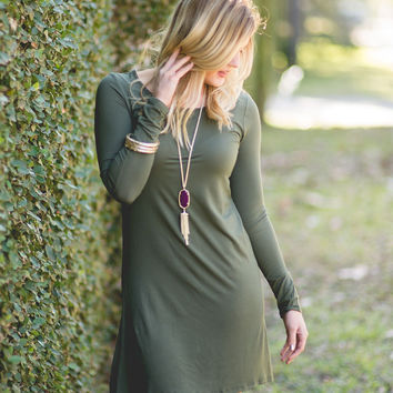 Crash Into Me Dress - Olive