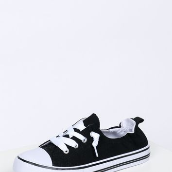 Low Rise Scrunch Sneaker Black