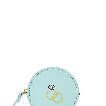 Kate Spade Wedding Belles Engagement Ring Coin Purse Grace Blue ONE