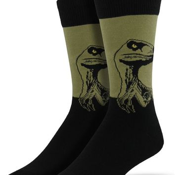 Raptor Dinosaur Men's Crew Socks
