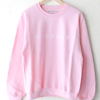 Crybaby Oversized Sweater - Pink