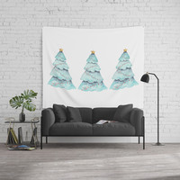 christmas tree Wall Tapestry by Sylvia Cook Photography