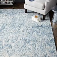 Vines Wool Rug - Blue Lagoon