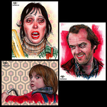 "Prints 8x10"" - The Torrance Family - The Shining Jack Nicholson Stanley Kubrick Stephen King Dark Art Horror Serial Killer Pop 80s Halloween"