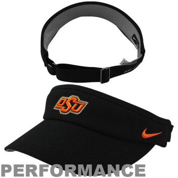Nike Oklahoma State Cowboys Sideline Dri-FIT Adjustable Performance Visor - Black