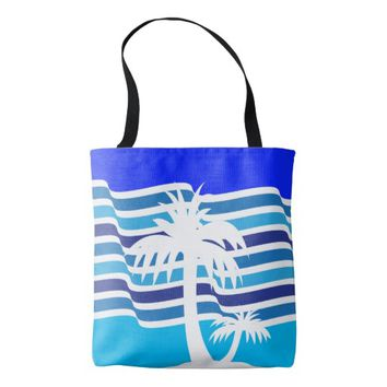 BEACH All-Over-Print Tote Bag, Medium