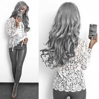 Floral Sheer Lace Blouse