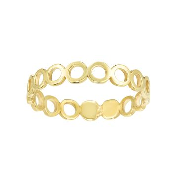 14k Yellow Gold Round Womens Band Ring, Size 7