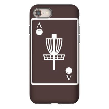 disc golf ace card target chains frisbee basket iPhone 8