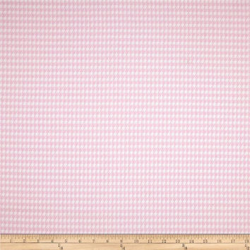 Premier Baby Pink Houndstooth Fabric