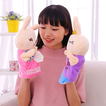 Child cute  Cartoon Hand puppets children Plush Toys Kids Educational  Animal  parent-child Hand stuffed Doll  gift  toys   TO20