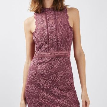 PETITE Scallop Lace Bodycon Dress - Dresses - Clothing