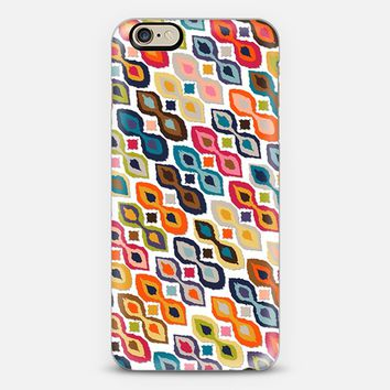 carnival ikat white iPhone 6 case by Sharon Turner | Casetify