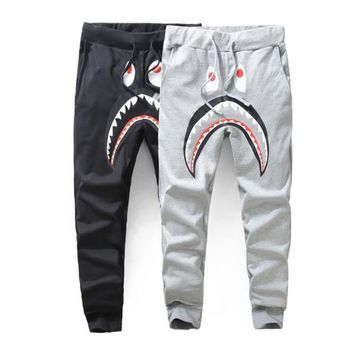 New Mem Women Hip Hop Popular Logo Loose Casual Pants Men's Casual Sweatpants Pants Shark Printing Pants