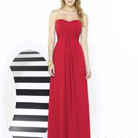 After Six by Dessy 6713 Floor Strapless Chiffon Bridesmaid Dress