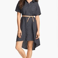 Eileen Fisher High/Low Linen Shirtdress | Nordstrom