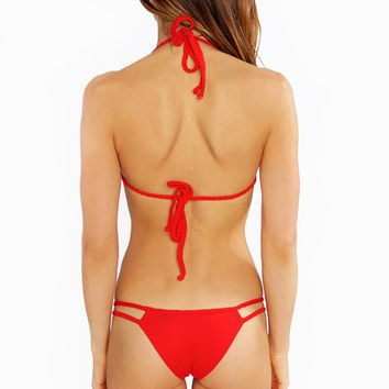 Frankies Bikinis Oceanside Bottom | Red Frankies Bikini Bottom