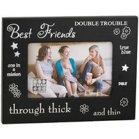 Sixtrees Best Friend Black Wood 4-Inch by 6-Inch Frame