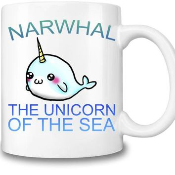 VONFC9 Narwhal The Unicorn Of The Sea Coffee Mug