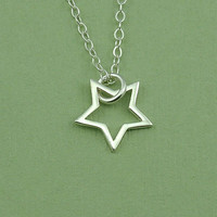 Tiny Star Necklace - sterling silver christian jewelry - charm necklace - gift