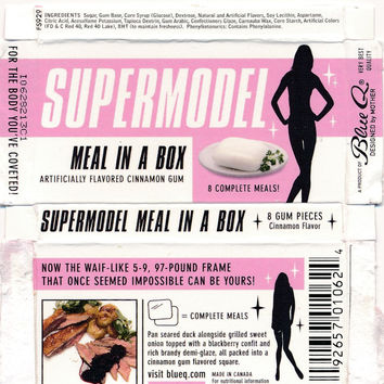 Super Model Meal In A Box Gum