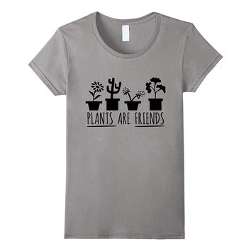 PLANTS ARE FRIENDS logo T-Shirt for Gardeners