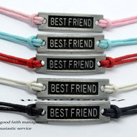Simple clear Best friend bracelet,Wax attachment bracelet, color can be adjustable, best bracelet