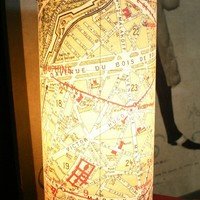 Vintage Paris France Map Table LAMP French LOVE by czechpub