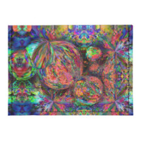 Rainbow Fractal Bubbles Tyvek® Card Wallet