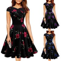 Women Vintage Rockabilly Dress