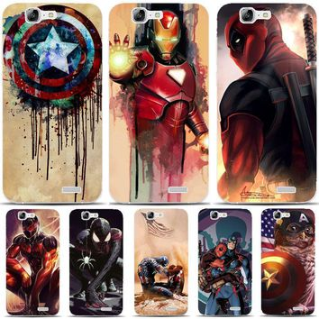 Deadpool Dead pool Taco G396 America Superman& Transparent Hard Thin Skin Case Cover For Huawei P8 P9 P10 Lite Plus 2017 Honor 8 Lite 9 6X AT_70_6