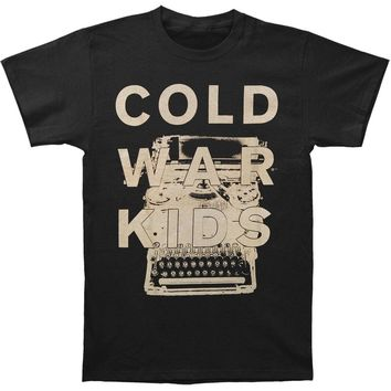 Cold War Kids Men's  Typewriter T-shirt Black