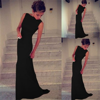 Womens sexy Prom Ball Cocktail Slim Long Dress Maxi Formal Evening Gown Dress