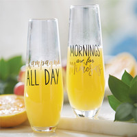 Brunch Stemless Champagne Glasses (Sold Separately)