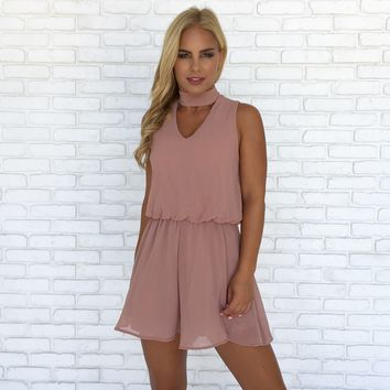 Just Breathe Romper in Mauve