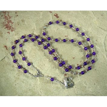 Dionysos Prayer Bead Necklace in Amethyst: Greek God of the Grape, Theater, the Mysteries