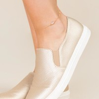 Carley Delicate Stone Anklet
