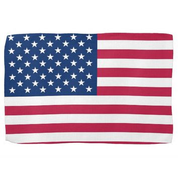 Kitchen towel with Flag of U.S.A.
