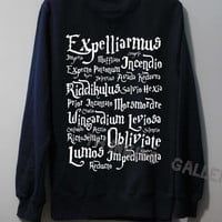 Harry Potter Spell Shirt Magic Spell Shirt Sweatshirt Sweater Unisex - Size S M L