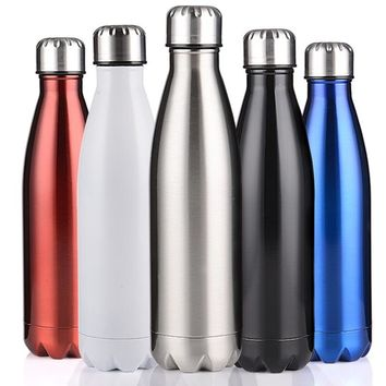 350/500/750/1000ml Double-Wall Insulated Vacuum Flask Stainless Steel Water Bottle Cola Water Beer Thermos for Sport Bottle