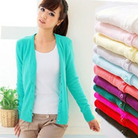 New Fashion Autumn Winter Cashmere The Cardigan Knitted Sweater Women V-neck Long Sleeve = 1920186180