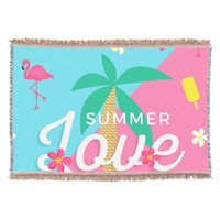 Summer Love Throw Blanket
