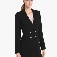 White House Black Market Longline Blazer Jacket