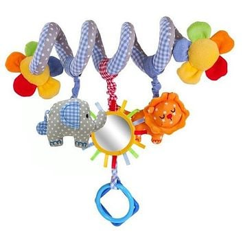 Music Blue Baby Elephant Crib Multifunctional Rattles