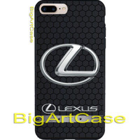 New Lexus Hexa Carbon Silver Logo CASE COVER iPhone 6s/6s+7/7+8/8+,X and Samsung