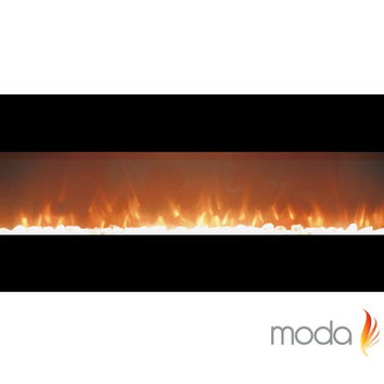 72 Inch Crystal Linear Wall Mounted Electric Fireplace