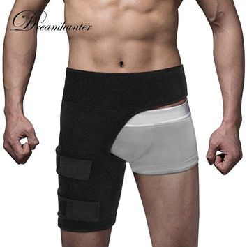 Adjustable Groin Wrap Support Men Women Compression Sport Thigh Waist Wrap Strap Hip Stability Brace Protector