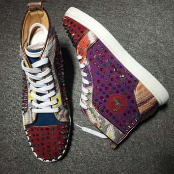 Cl Christian Louboutin Louis Spikes Style #1838 Sneakers Fashion Shoes