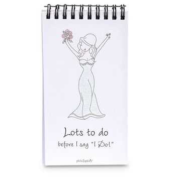 Bride To Do List  - 80 Page Notepad with Easel